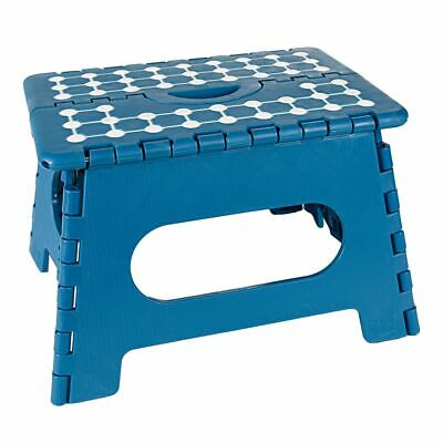 Folding Stool Step Foldable up to 150 kg Resilient Turquoise