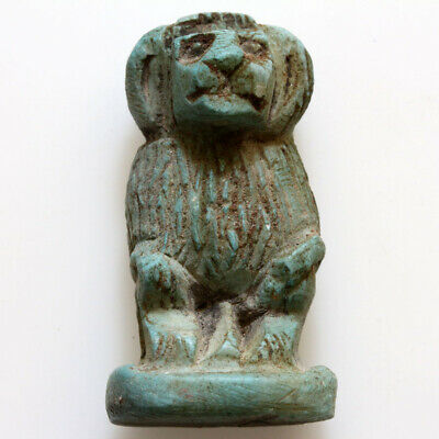 Intact Egyptian Glazed Colored Amulet Circa 1400-1600 Ad