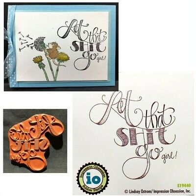 Impression Obsession Stamps Thinking Of You At Easter Rubber Stamp B5425 Words