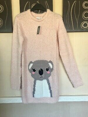 Debenhams Girls Jumper Dress BNWT Age 11-12 12-13 Next P&P £23 Sequins Xmas Gift