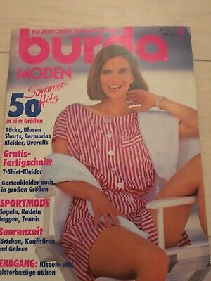 Burda Moden German Magazine With Included Sewing Patterns