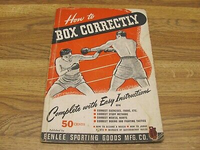 Vintage 1944 HOW TO BOX CORRECTLY By John J. Romano BENLEE Sporting Goods