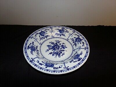 Johnson Brothers INDIES BLUE rim soup bowl made in England transferware