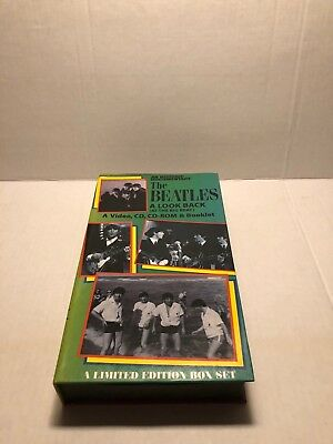 The Beatles ~ A Look Back (At The Big Beat) Box ~ Video * Cd * Cd-Rom & Booklet