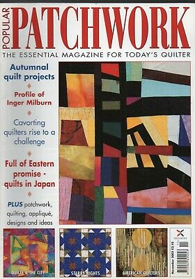 popular Patchwork quilting magazine. November 2002. Perfect condition.