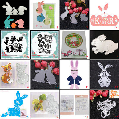 Easter Rabbits Metal Cutting Dies Stencil DIY Scrapbook Album Card Embossing Art