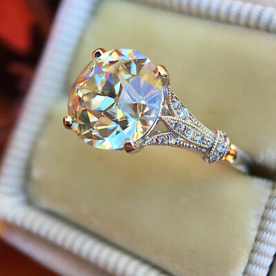 2.50ct Round Cut White Diamond Vintage Engagement Ring Wedding Jewelry Gifts UK