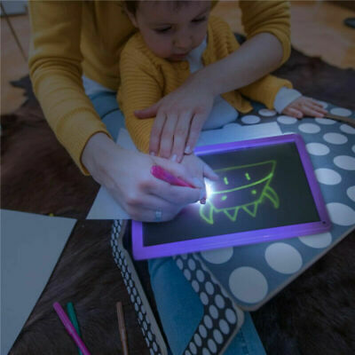 LED Writing Board light up Kids Painting Drawing Tablet Flash Magic Erasable Toy