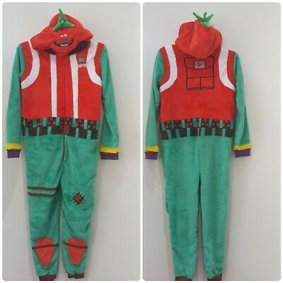 NEW Kids Boys All in one jumpsuit with hood- Fortnite Tomatohead