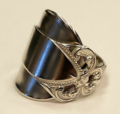 Gorgeous Unusual Solid Silver Norwegian Spoon Ring. Size U - Beautiful Ring