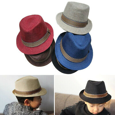 FedHat-K18 ^* Fedora Trilby  Hats For Kids Pin Striped 1Pc or 4Pc Lot