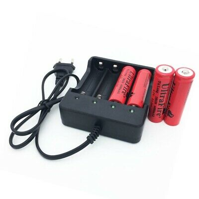4 Slot Battery Batteries Charger for 3.7V 4x18650 Rechargeable US Plug