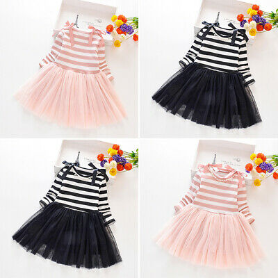 Children Dress Toddlers Kids Party Bow Knot Dress Casual Stylish Girls Swing