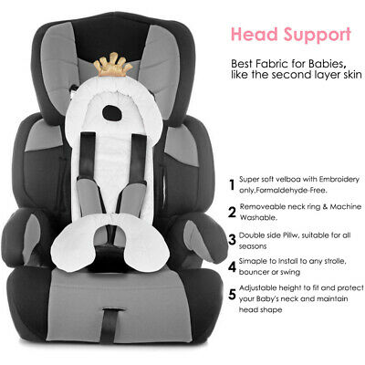 Kids Baby Infant Crown Car Seat Stroller Cushion Pad Liner Mat Head Body Support