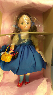 """RARE Madame Alexander Large 14"""" Wizard of Oz Dorothy & Toto Doll #1532 w box"""