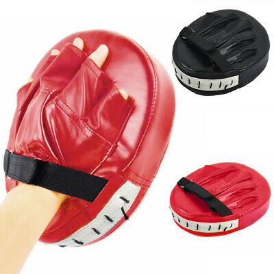 Fairtex FMV13 Maximized Focus Mitts Muay Thai Boxing Punch Target Pads Red Blue