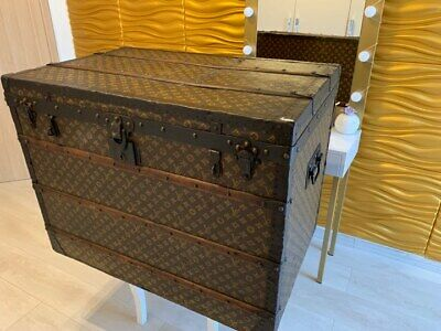 1907 Louis Vuitton Canvas Early Steamer Trunk