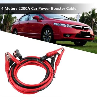 4 Meters Vehicle Power Booster Cable Emergency Battery Jumper Wires