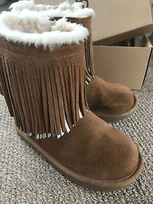 Girls Brown Suede Uggs Very Rare Size 32