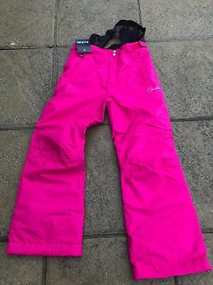 New Girls  Dare2B Whirlwind Snowboard Ski Trousers, Electric Pink Age 11-12