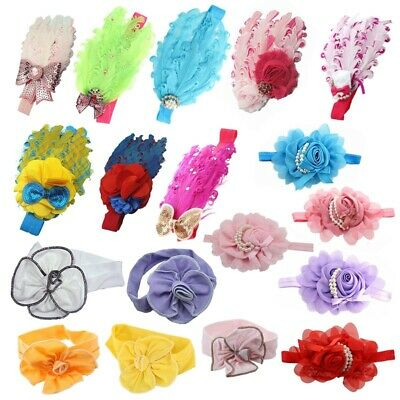 Lovely Cotton Girls Baby Headbands,Feather Z3D5