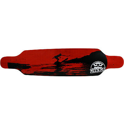 "MIAMI Longboard Deck Freestyle SURF RED 9.5"" x 42"""
