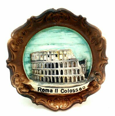 Roman Colosseum Souvenir 3-D Wall Plaque from Italy