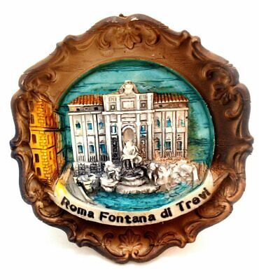 Rome Trevi Fountain Souvenir 3-D Wall Plaque from Italy