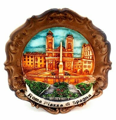 Rome Spanish Steps Souvenir 3-D Wall Plaque from Italy