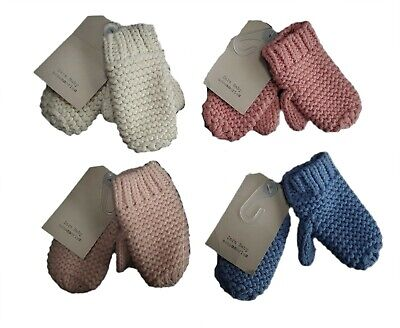 ZARA Baby Mittens Boys Girls Unisex Knit Knitted Winter Gloves 0-12 2-4 y £6.99