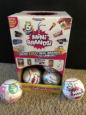 Mini Brands Mystery Collectible Capsule NEW 1-Ball ZURU *Authentic* On Hand