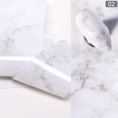 Tips DIY Art Candy Decals Marble Foil Nail Stickers Transfer Glitter Foils