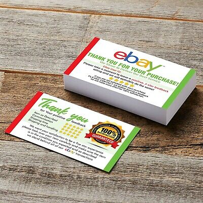 100 Thank You business card for Ebay Seller FREE SHIPPING / ebay ID writable