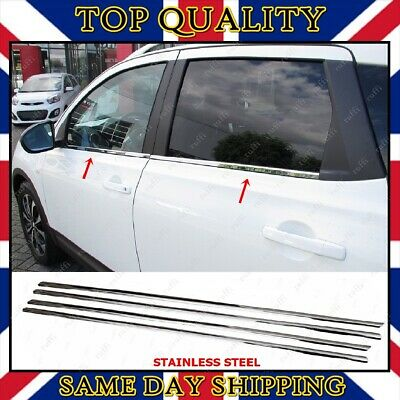 Fits for Nissan Qashqai +2 Chrome Windows Frame Trim 4 pcs S.STEEL 2006-2013