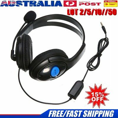 50x Wired Gaming Headset Stereo Headphone earphone w/ Mic For Sony PS4 AU mt