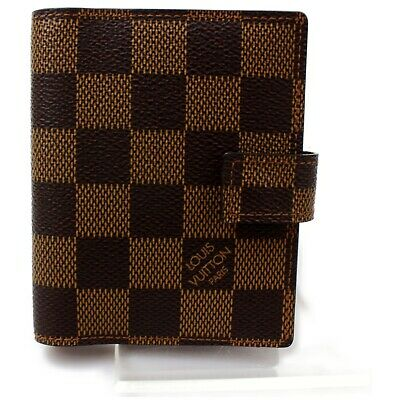 Authentic Louis Vuitton Diary Cover Agenda Mini Browns Monogram 1112143