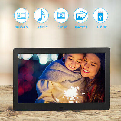 "10"" LED Digital Photo Frame Electronic Album Clock MP3 MP4 Player Auto SlideShow"