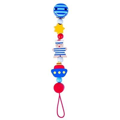 734660 Baby Toy Heimess Natural Bead Soother Holder// Dummy Chain