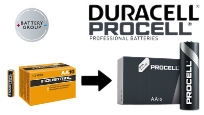 10 Pack AA DURACELL Batteries INDUSTRIAL Alkaline NOW PROCELL MN1500 2026 Exp.