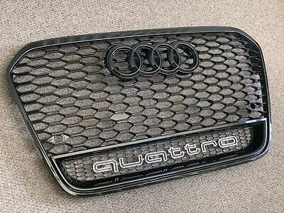 Audi A6 S6 RS6 Style Gloss Black Honeycomb Grille 12 - 17 C7 Model