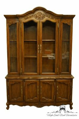 """High End Country French Style 56"""" Lighted Display China Cabinet"""