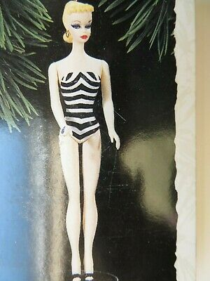 1994 Hallmark DEBUT 1959 BARBIE DOLL Ornament #1 CLASSIC BARBIE in Swimsuit NEW