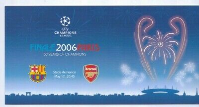 Postcard 2006 Champions League Final Barcelona v Arsenal in Paris France