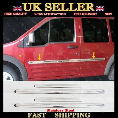 Chrome Side Door Streamer 4 dr Ford CONNECT Tourneo / Transit SWB Short Chasis