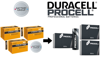 30 Pack DURACELL AA Batteries INDUSTRIAL Alkaline NOW PROCELL MN1500 Exp 2026