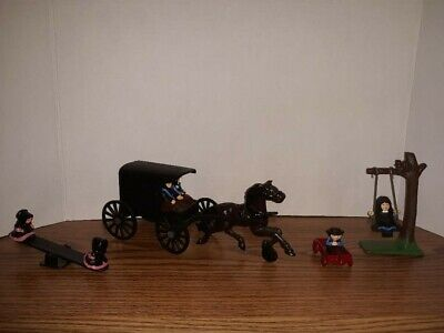 Antique Amish Cast Iron Figurines And Objects