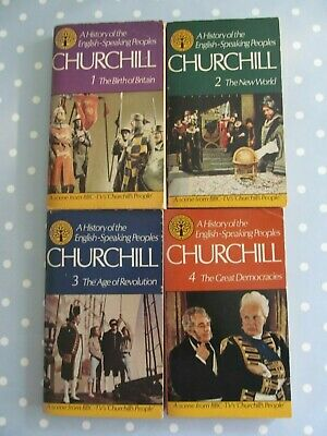 A History Of The English Speaking Peoples Winston Churchill 4 Vol Paperback Set
