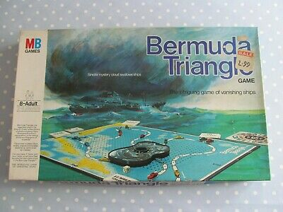 Bermuda Triangle Board Game By Mb Games Vintage Dated 1976 Complete