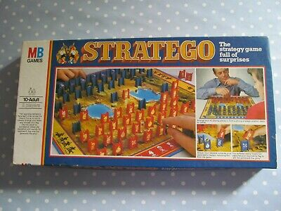 Stratego Board Game Mb Games Vintage Edition Dated 1982 Complete