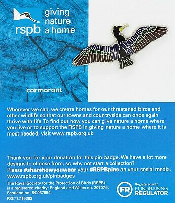 RSPB Pin Badge | cormorant  GNAH BLUE (01568)